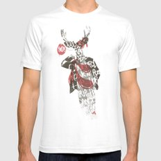 Yo! Deer Music Man Mens Fitted Tee White SMALL