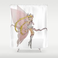 sailor moon Shower Curtains featuring Sailor Moon by Brittany Ketcham