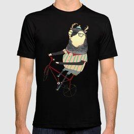 Deer on Bike.  T-shirt