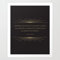 Imperfection is Beauty Art Print