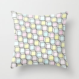 Blocks Pattern Throw Pillow