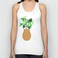 fig Tank Tops featuring fig by Little Lost Garden