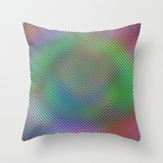 Color Crystals Throw Pillow