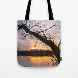 Potomac River Sunset Tote Bag