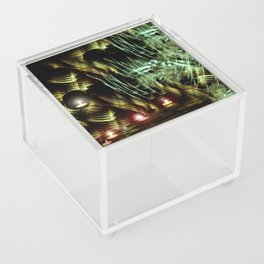 Floating Tealights Fractal Cave Acrylic Box