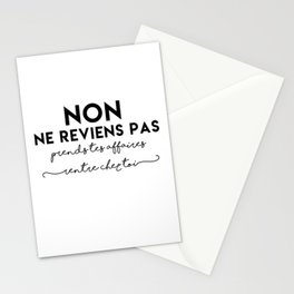 Non ne reviens pas Stationery Cards