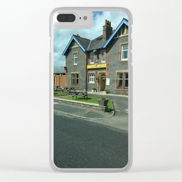 On A Scotland Road Clear iPhone Case
