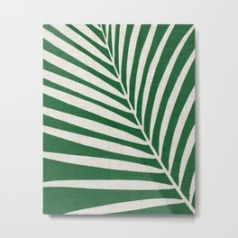 Minimalist Palm Leaf Metal Print