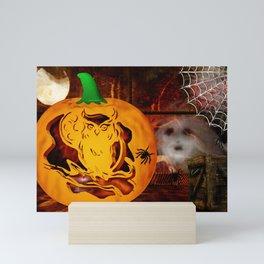 Sirens Pumpkin Carving Halloween Folk Art Mini Art Print