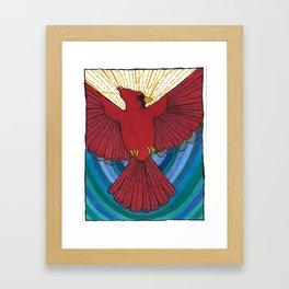 Joyful Cardinal Framed Art Print