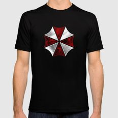 Resident Evil Umbrella Corporation Black LARGE Mens Fitted Tee