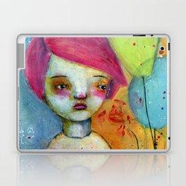 Girl with Pink Hair Laptop & iPad Skin