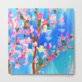Rustic Blossom Metal Print