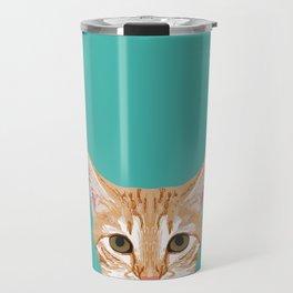 Tabby orange cat head cat breed gifts cute tabby cats must haves Travel Mug
