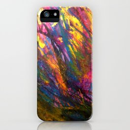 Sunset in the enchanted forest iPhone Case