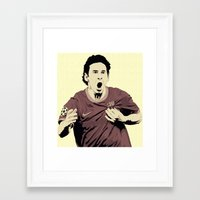 messi Framed Art Prints featuring Messi by Renan Lacerda