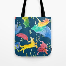 RAINING DOGS AND CATS WKS Tote Bag