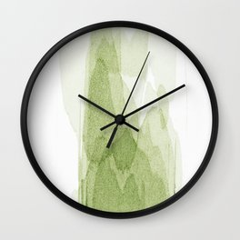 transparent 3 - green Wall Clock