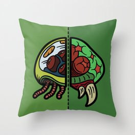Old & New Metroid Throw Pillow