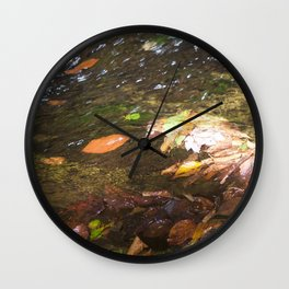 Falling Leaves Wall Clock