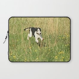 Happiness is running wild and free, and not letting your feet touch the ground! Laptop Sleeve
