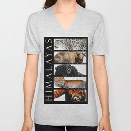 Animals of the Himalayas Unisex V-Neck
