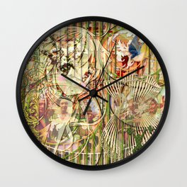 Jeune fille de joie usine (Factory girl joy) (2) Wall Clock
