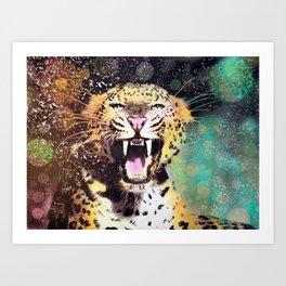 Crescendo Leopard Art Print