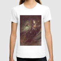 merlin T-shirts featuring MEME 004 Merlin Aithusa by mushroomtale