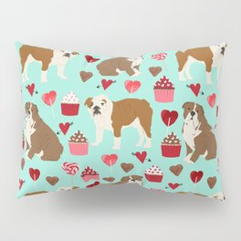 English Bulldog valentines day dog breeds gifts for dog lovers custom pet portraits Pillow Sham