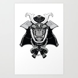 Savage Society: Gorilla Samurai Art Print