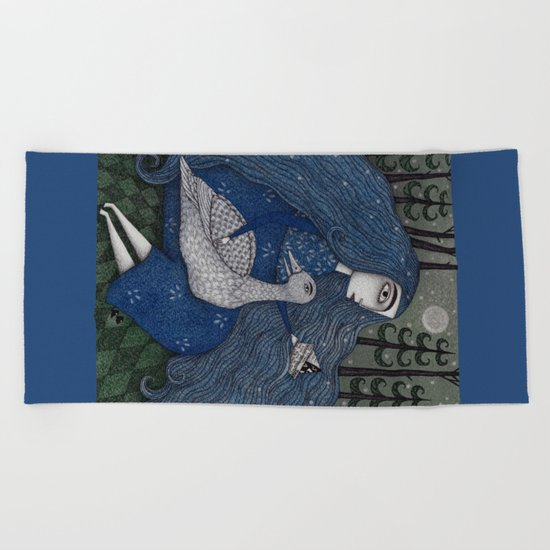 The White Duck Beach Towel