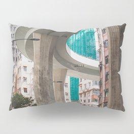 Hong Kong Street Bridge Pillow Sham