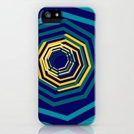 Time Warp In Blue iPhone Case