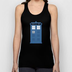 TARDIS Under the Sea - Doctor Who Digital Watercolor Unisex Tank Top