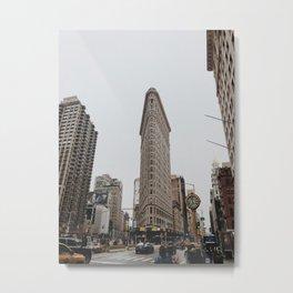 Flatiron Building - NYC Vintage Metal Print