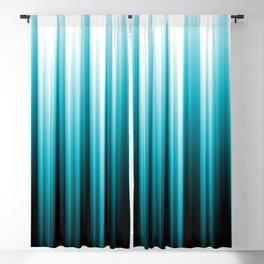 Aqua Blue Black and White Soft Lines Pattern 2021 Color of the Year AI Aqua 098-59-30 Blackout Curtain