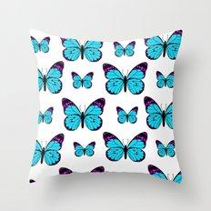 Sea of Butterflies Throw Pillow