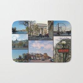 Paris Collage Bath Mat