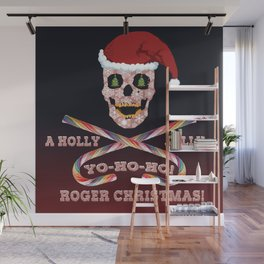 Holly Jolly Roger Xmas Wall Mural