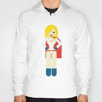 girl power Hoodies featuring Power Girl by Marco Recuero