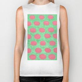 Pink and Green Polka Dots Biker Tank