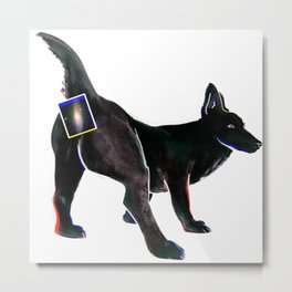spacedog Metal Print