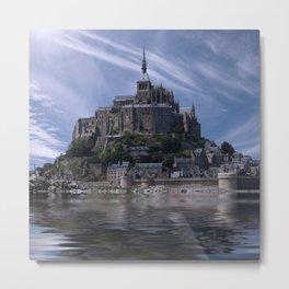 Mont saint michel france normandy Metal Print