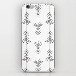 Doubled Black&White Siam Tulips iPhone Skin