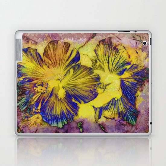 Abstract Flowers Laptop & iPad Skin