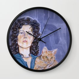 In Space No One Can Hear Your Cat Wall Clock