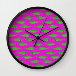 Bright Fish Pattern Wall Clock