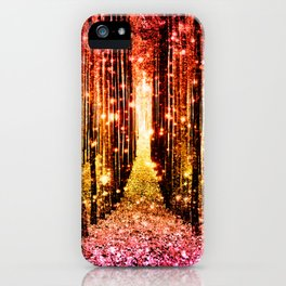 Magical Forest Sunset Pink iPhone Case