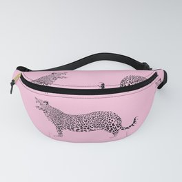 Baby Pink Leopard Fanny Pack